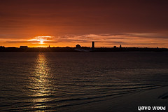 Wirral Sunset from Liverpool (Dave Wood Liverpool Images) Tags: sunset sky water night liverpool lowlight waterfront wirral