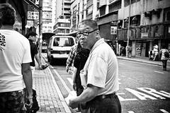 Don't look back... (anthonyleungkc) Tags: street leica blackandwhite bw lumix hongkong f14 candid olympus snap panasonic 25mm lightroom ep1 kwuntong m43 epen mft microfourthirds dgsummilux