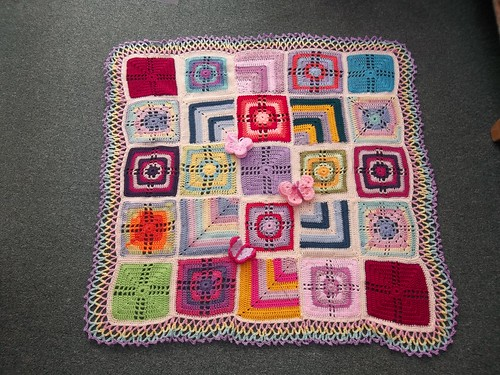 Thanks to everyone that has sent in Squares for this Blanket. I love them all! Name please Ladies?