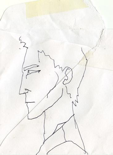 boceto en trozo de sobre by blackaller
