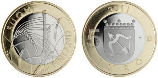5 Euro Fínsko 2010, provincia Savonia