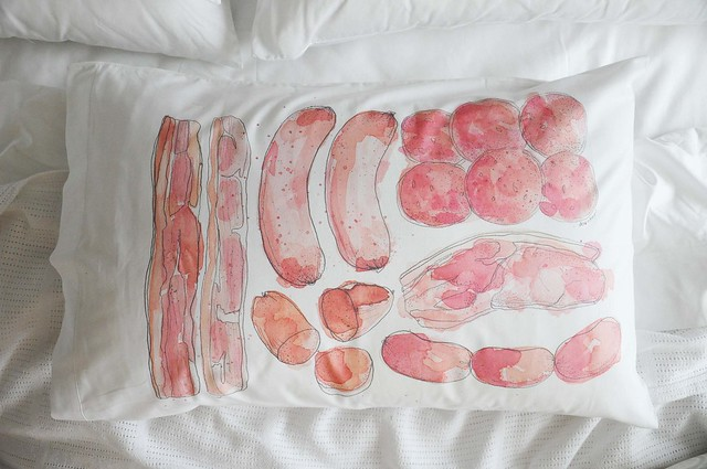 Meaty Pillowcases
