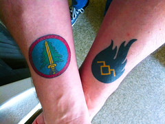 my Twin Peaks tattoos (Elwood Rose) Tags: david lynch me boys tattoo fire with walk twin tattoos owl what cave they peaks seem owls bookhouse