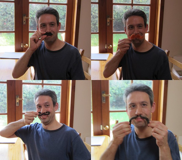 Trying out the moustache kit