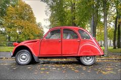 2cv (Hans Kool) Tags: auto old red classic car french duck citroen 2cv rood eend 2cv6 2cv4