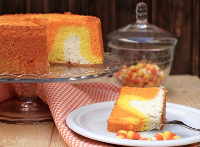 Halloween Angel Food Cake