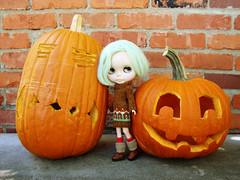 Beatrix and pumpkins