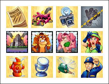 free Monster Mayhem slot game wild symbol