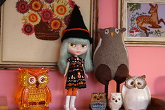Owls and Blythe for Halloween? Yes please!!