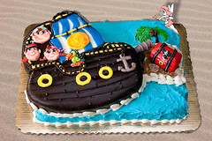 Jake and the Neverland Pirates (DWRowan) Tags: ocean water cake misty ship treasure jake pirates pastry neverland cakedecorating bakeawish