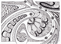 'Major' inspiration (Koru 1) (Jo in NZ) Tags: zentangle