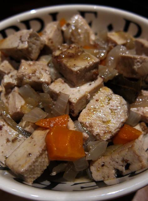 Fun with tofu - Tofu Bourguignon