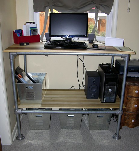 computer standing desk with adjustable shelf storage simplified