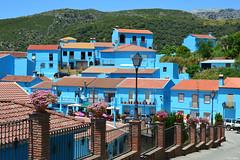 Jzcar, el pueblo pitufo (mlnilsson) Tags: travel blue espaa film azul movie spain nikon village sony pueblo cine andalucia pelicula smurf andalusia viajar smurfvillage juzcar jzcar puebloazul d3100 pueblopitufo