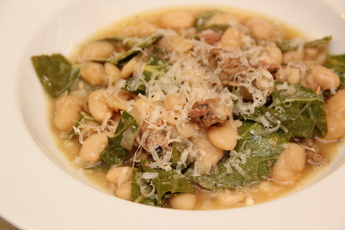 White bean andouille collard stew