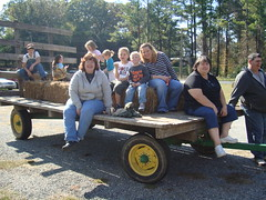 Hayrides at the Fall Festival