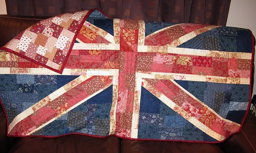 Shabby Chic Union Jack Quilt