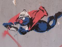 Toronto 2011 (bella.m) Tags: streetart toronto ontario canada art graffiti stencil things spray urbanart sesamestreet superhero grover aerosol supergrover bombing pochoir