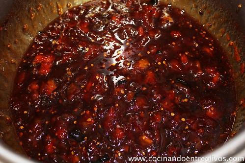 Mermelada de tomate a la vainilla con queso blanco arla (7)
