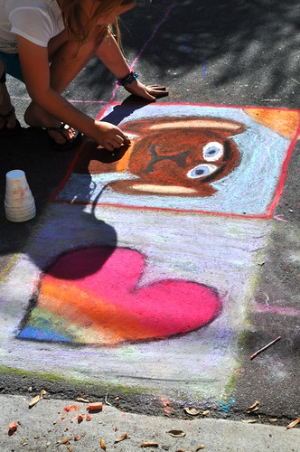There Was a Kid's Section of the Chalk Festival in Sarasota, Fla., Day 5, Nov. 5, 2011