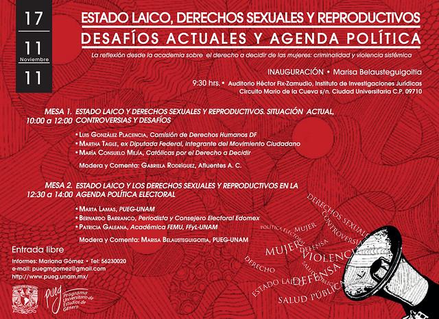 """Foro """"Estado Laico, Derechos Reproductivos y Agenda Electoral"""""""