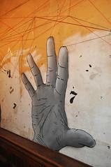 Hands up! (id-iom) Tags: street uk cats london art thread up bar graffiti hands paint village market spray seven vandalism brixton cradle idiom