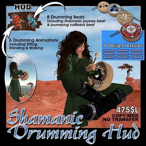 Shaman Drum Shamanic Drumming Hud by Cherokeeh Asteria