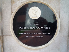 Photo of Joseph Blanco White black plaque