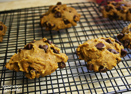 Fall Recipes - Pumpkin Chocolate Chip Cookies