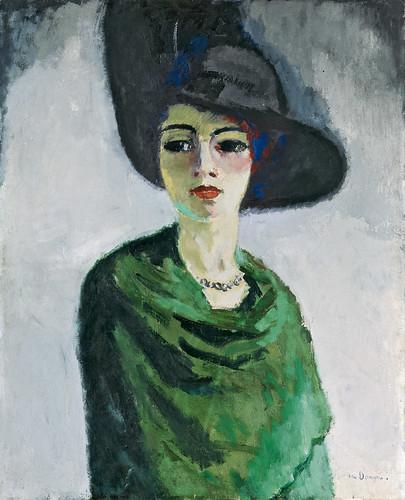 12. Mujer con sombrero negro, Van Dongen