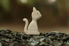 White Cat (kris10dale) Tags: wood cat toy wooden handmade waldorf etsy naturetable