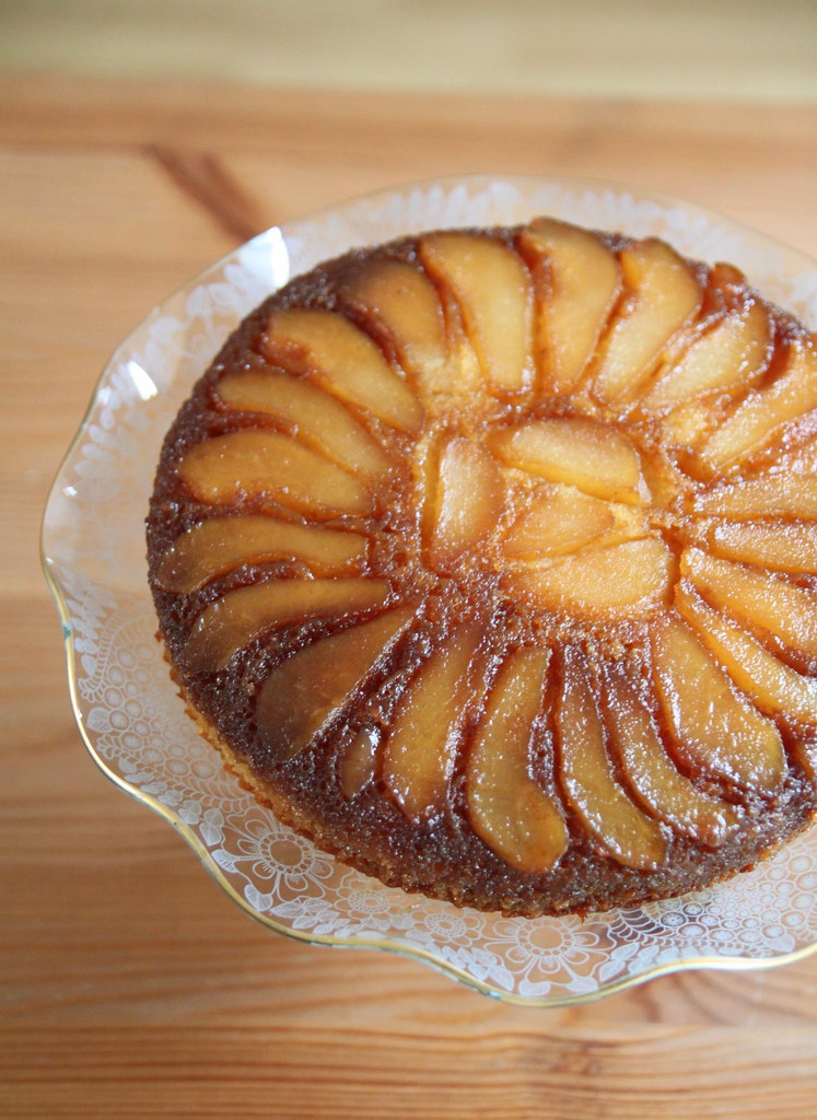 Pear Cake Using Soya Flour