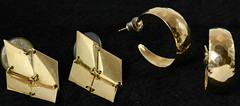 4047. Two Pairs of 14KT Gold Earrings