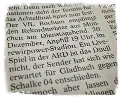 WAZ Bochum zum DFB-Pokal