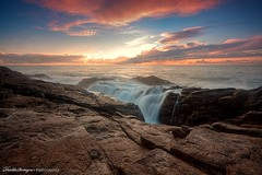 Waterfall on a seascape (Descliks2bretagne PHOTOGRAPHIE) Tags: ocean longexposure sunset sea sky cloud sun mer seascape france nature rock canon french soleil waterfall wave bretagne breizh ciel filter nuages paysage vague cascade morbihan hitech hdr rocher couch wwh filtre quiberon brtittany wildcoast cotesauvage photomatix poselongue nd12 fantasticnature 450d levivier canonefs1022usm nd09hardgrad descliks2bretagne ledilhuitnicolas