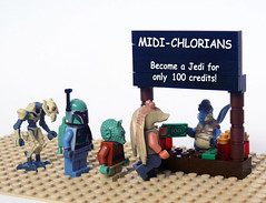 Midi-chlorians for Sale (Oky - Space Ranger) Tags: money star funny lego general sale jedi jar boba wars clone wald credits binks watto fett grievous midichlorian