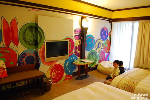 這間房的主題是溜溜球