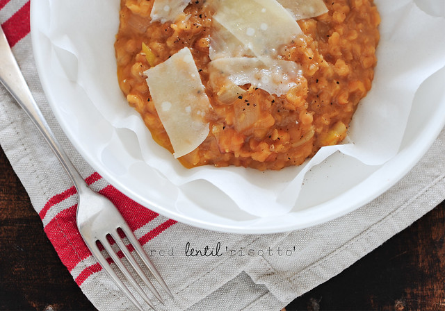 3 red lentil risotto