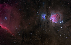 M42, the Great Orion Nebula -- part one of mosaic (write_adam) Tags: sky panorama horse man field night dark stars candy head space great wide deep running observatory telescope ciel nebula astrophotography orion m42 sword astronomy outer alpha heavens astronomia horsehead constellation hydrogen celestial telescopic celestia astronomie refractor widefield nebulae ngc1977 nebulosity b33 hargb stl11000 Astrometrydotnet:status=solved fsq85 Astrometrydotnet:version=14400 Astrometrydotnet:id=alpha20111165081200