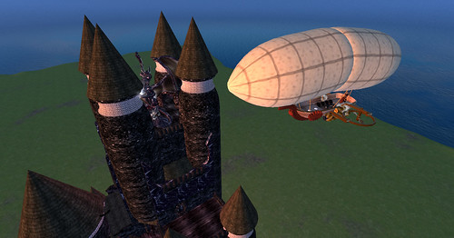 Cursed Tower and Cloudrider airship, from NS6