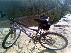 Diamondback on River Bluff Trail at Cliff Cave County Park 2 (mhanlen1) Tags: cliff bike outdoors exercise mountainbike missouri mississippiriver cave stlouiscounty indiancave saintlouiscounty diamondbackoutlook cliffcave cliffcavecountypark markhanlen mhanlen mhanlen1