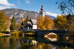 Still life at Bohinj (balint.deak) Tags: travel autumn portrait lake water reflections nikon slovenia bohinj 2011 d5000