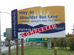 Highway 99 Shoulder Bus Lane (TranBC) Tags: bc transportation infrastructure projects completed lowermainland tranbc southcoastregion ministryoftransportationandinfrastructurecompleted