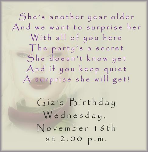 Happy birthday Giz! by Alii Vella