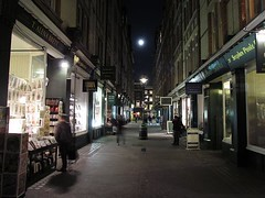 Moon over Cecil Court (crashcalloway) Tags: london night westend theatreland cecilcourt