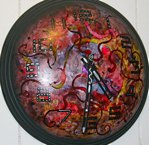 Funky Wall Clock by Rick Cheadle Art and Designs
