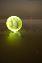 murky (~ jules ~) Tags: longexposure light red sea orange lightpainting reflection green beach yellow clouds ball circle globe julian sand nikon paint orb marshall tokina sphere round jules lightpaint lapp 1116 d300s jayemphotographycouk