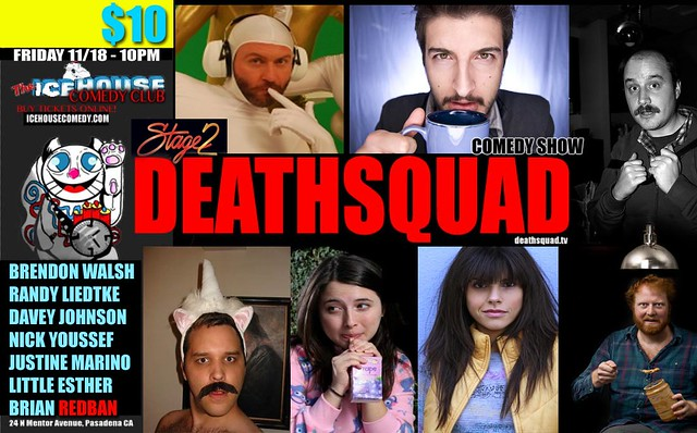 DEATHSQUAD COMEDY LIVE! – 11/18