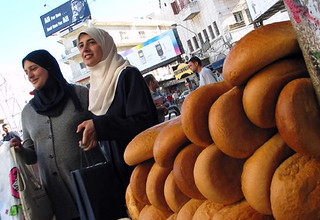 Women buying bread, Ramallah