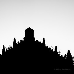 Paoay Silhouette (Meljoe San Diego) Tags: bw abstract church silhouette fuji philippines paoay x10 ilocosnorte meljoesandiego